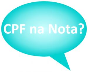 Por que colocar CPF na nota?